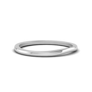 Platinum Plain Contour Band