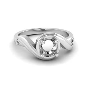 Platinum Semi Mount Swirl Ring