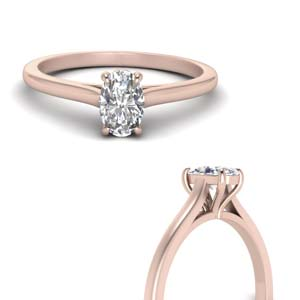 Cathedral Solitaire Moissanite Ring