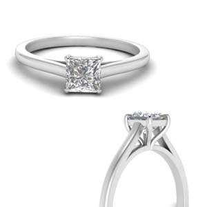 Platinum High Set Solitaire Ring