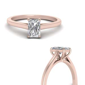 High Set Solitaire Wedding Ring