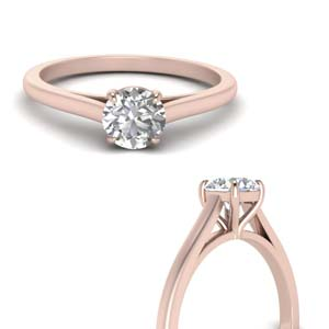 Round Cut Diamond High Set Ring