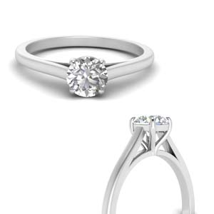 High Set Round Diamond Ring