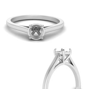 Semi Mount Solitaire Engagement Ring