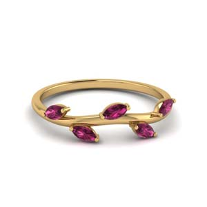 Pink Sapphire Band For Women