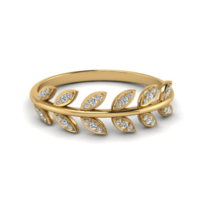 Series Diamond Leaf Wedding Band
