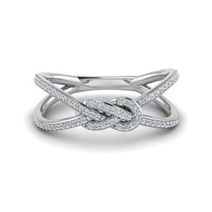 love knot diamond double split band in 14K white gold FD123097ROR NL WG