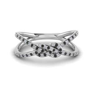 Black Diamond Love Knot Band