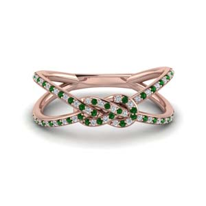 Emerald Double Split Band