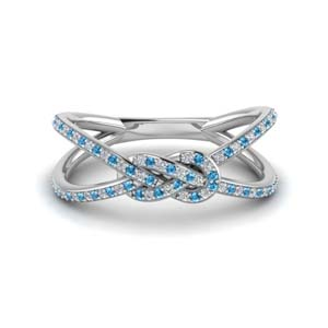 Topaz Love Knot Double Split Band