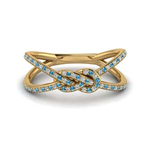 Blue Topaz Band For Women
