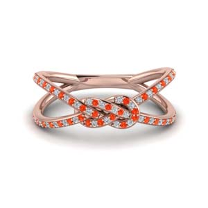 Orange Topaz Women Split Band