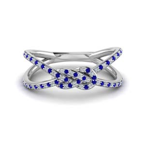Sapphire Double Split Band For Women