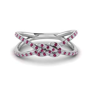 Love Knot Pink Sapphire Band