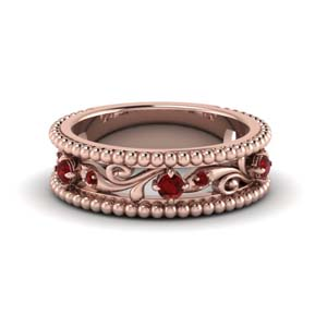 Paisley Vintage Ruby Band