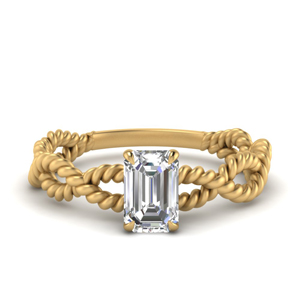 Infinity Rope Solitaire Ring