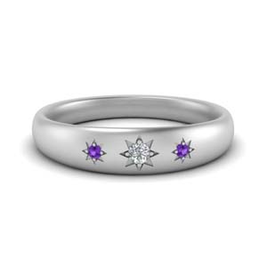 Starburst Purple Topaz Womens Band