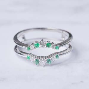 Graduated Emerald Ring Guards