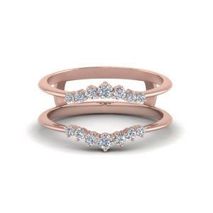 Rose Gold Diamond Ring Guards