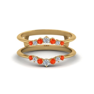 Orange Topaz Graduated Ring Guards