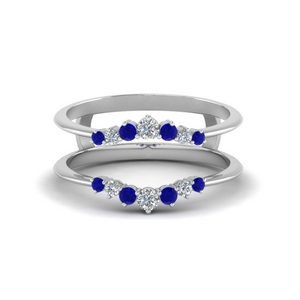 Sapphire Graduated Ring Guards