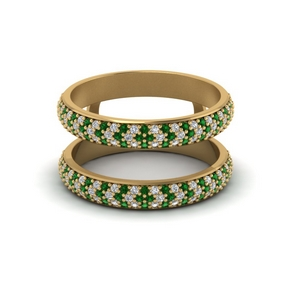 Micro Pave Emerald Ring Enhancer