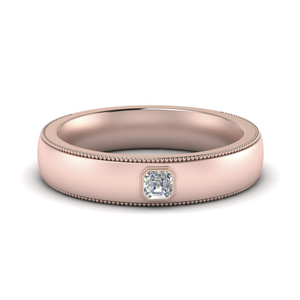 Men Milgrain Engagement Ring