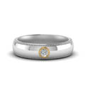 Milgrain Solitaire Mens Ring