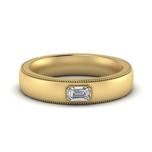 Comfort Fit Mens Diamond Band