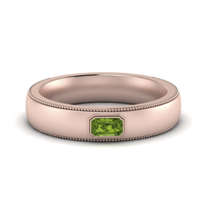 Comfort Fit Men Peridot Band