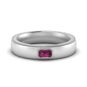 Pink Sapphire Comfort Fit Band