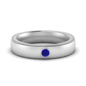 Sapphire Mens Round Comfort Fit Band