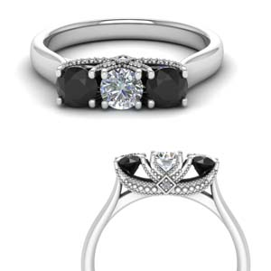 Platinum Black Diamond Band