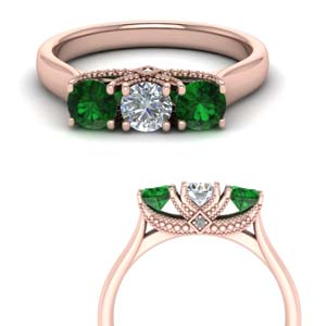 Emerald Cathedral Trellis Ring