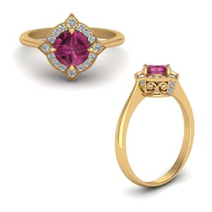 Delicate Vintage Pink Sapphire Ring