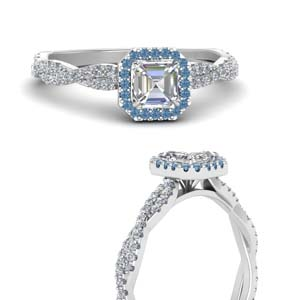 Asscher Diamond Ring With Halo