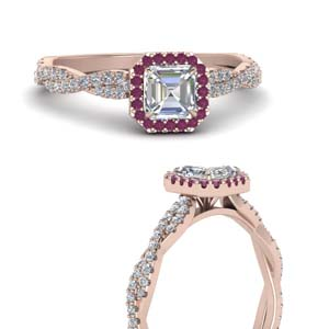 Twisted Shank Pink Sapphire Ring
