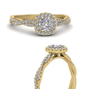 Infinity Cushion Halo Diamond Ring
