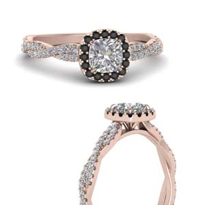 Cushion Halo Infinity Ring