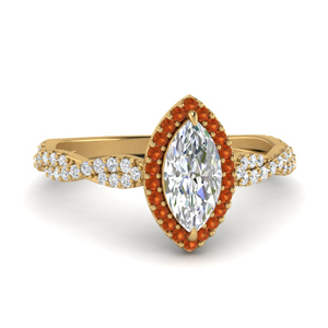 Twisted Marquise Diamond Ring