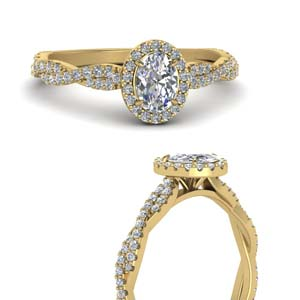 Infinity Oval Halo Diamond Ring
