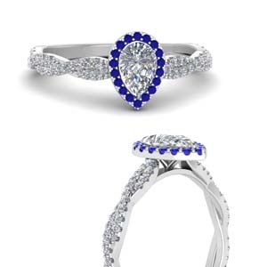 Infinity Halo Sapphire Ring