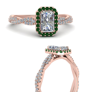 Braided Emerald Engagement Ring