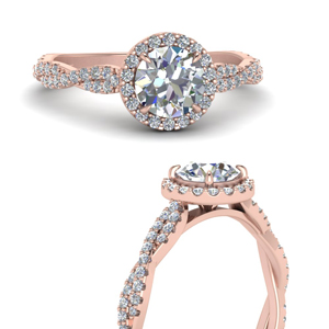 Classic Vine Halo Diamond Ring