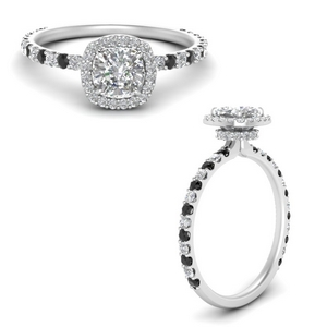 cushion-cut-double-under-halo-micropave-engagement-rings-with-black-diamond-in-FD123310CURGBLACKANGLE3-NL-WG