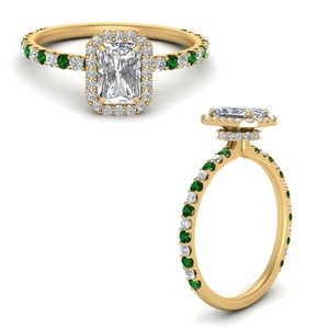 radiant-cut-double-under-halo-micropave-engagement-rings-with-emerald-in-FD123310RARGEMGRANGLE3-NL-YG
