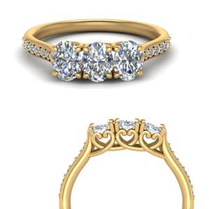 1 Carat Cathedral Diamond Wedding Band