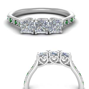 petite-princess-cut-diamond-wedding-band-with-emerald-in-FD123332PRGEMGRANGLE3-NL-WG