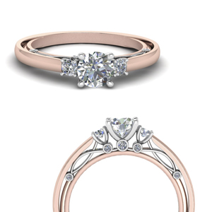 Unique Design 2 Tone Engagement Ring