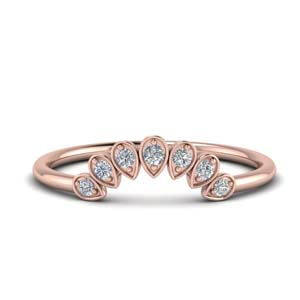 Teardrop Curved Wedding Band
